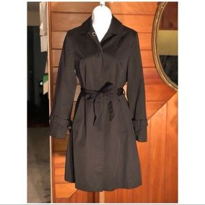 Black Sleek Trench Coat By Dana Buchman